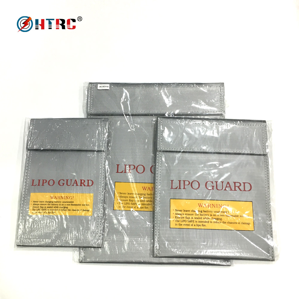 HTRC LiPo Guard Safety Bag for Lithium Battery Storage and Charging Fireproof Blast Proof S-21x13 M-21.4x18 L-30.3x23 cm
