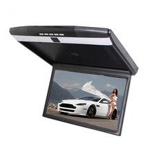 """17.3 """"Auto Techo del coche, Tapa de Monitor de Techo de Pantalla Ancha IR remoto transmisor FM USB SD de la ayuda 32g Incorporado Sperker control"""