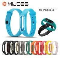 10 PCS/LOT Colorful Silicone Replacement Wrist Strap for Xiaomi Mi band 2 Double Color Smart Band Wristband Bracelet Correa