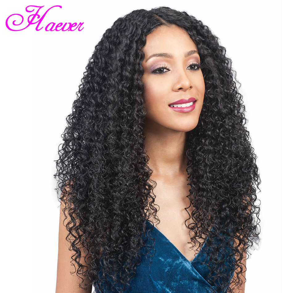 Brazilian Kinky Curly Lace Front Human Hair Wigs Transparent 13x4 Lace Frontal Hair Wigs with Baby Hair Pre Plucked Remy Hair(China)
