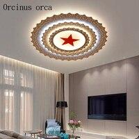 Современный минималистский пентаграмма светодиодный потолочный светильник офисные конференц зал гостиная творческая личность звезда пот