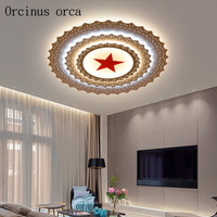 Modern minimalist Pentagram LED ceiling lamp office hall conference room living room creative personality star ceiling lamp