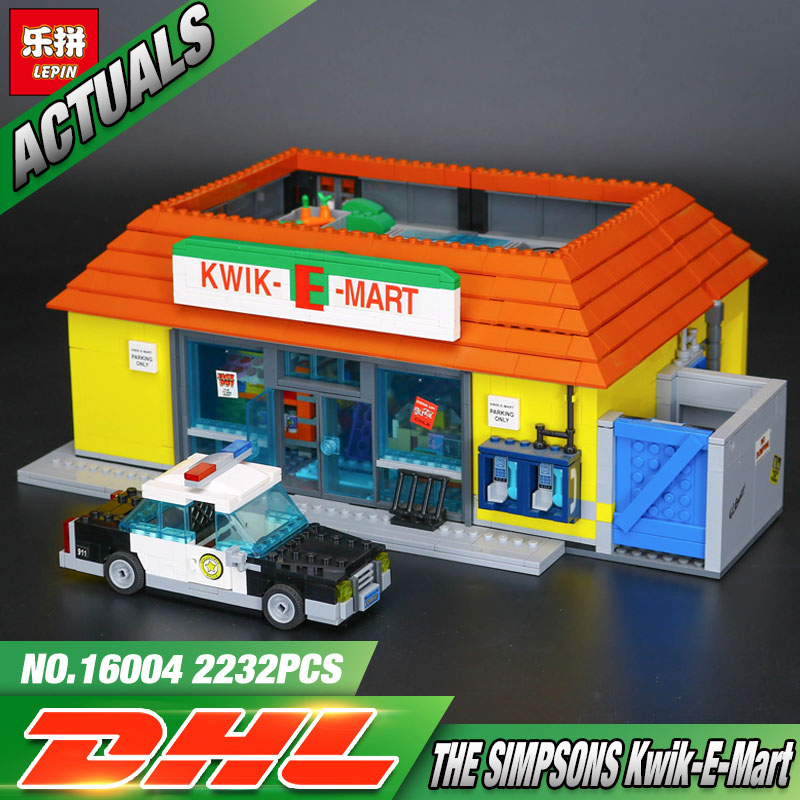New LEPIN 16004 2232Pcs the Simpsons KWIK E MART Action Model Building Block Bricks Compatible 71016