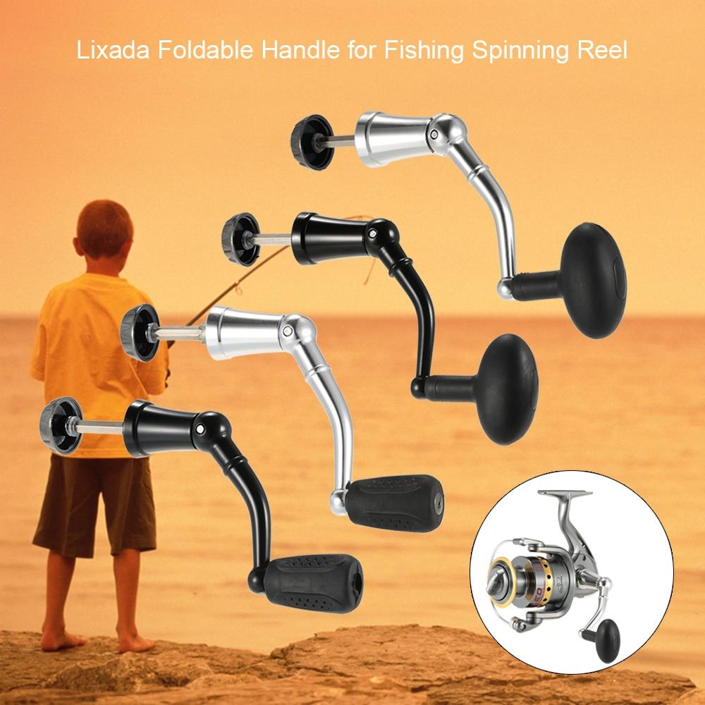 Lixada Aluminum Fishing Reel Handle Spinning Fishing Reel Handle Nonslip Knob Fishing Spinning Reel Accessory