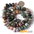 "8x12mm Freeform Potato Indian Agate Beads Natural Agate Beads DIY Loose Beads For Bracelet Making Strand 15"" Wholesale !"