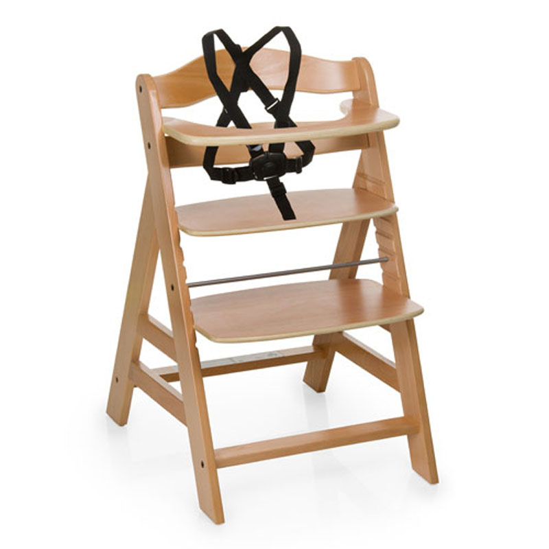 Hauck Beta Baby Dinning HighChair, Above 6 Months Baby Booster Seat, Beech Wood Baby Feed Chair