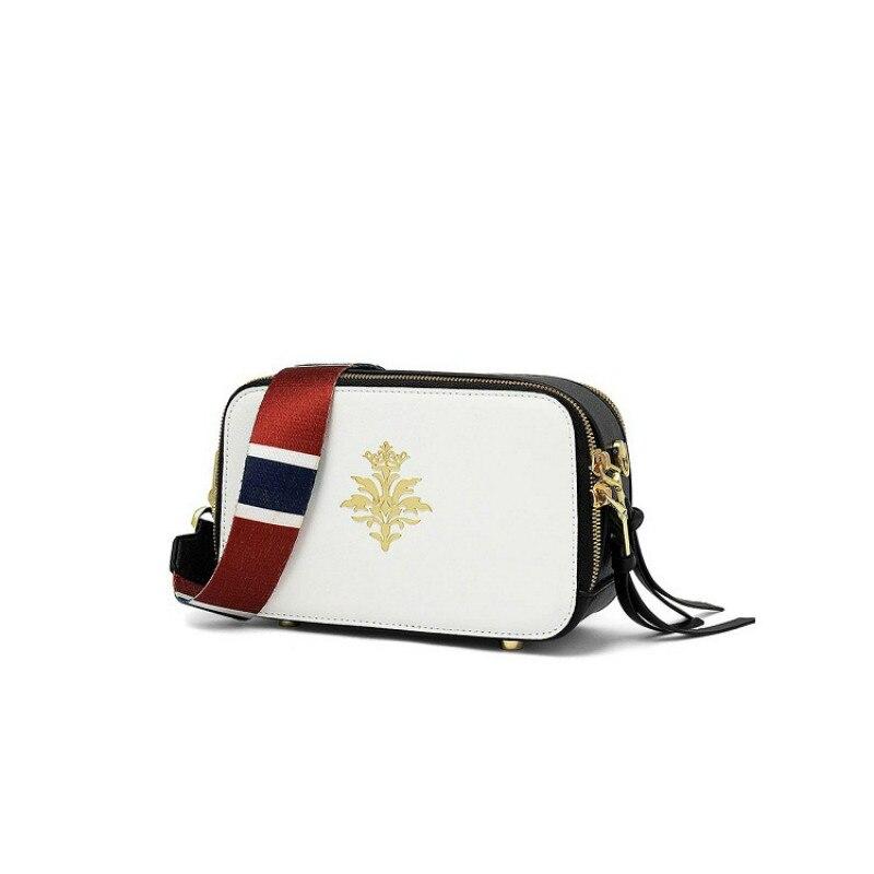 Le même été 2019 nouveau sac photo fée sac mini large bandoulière mixte-couleur petit carré en cuir dames sac