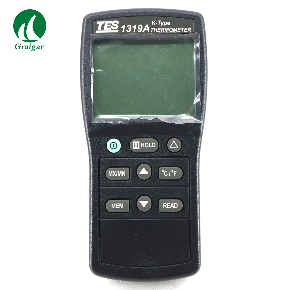 TES 1319A Digital Thermometer K Type Thermocouple Meter