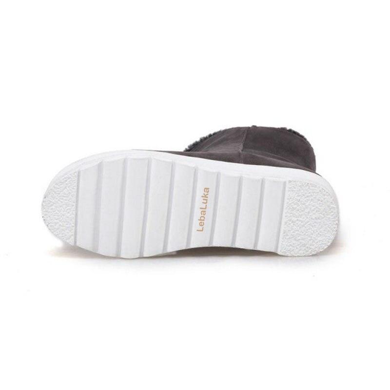 Femmes gris Bottes Footwears Court Chaud Noir Chaussures Hiver Courtes Épaisse Lebaluka Taille Fourrure 34 43 De Neige Demi Botas Coins jaune xT1tHnwz