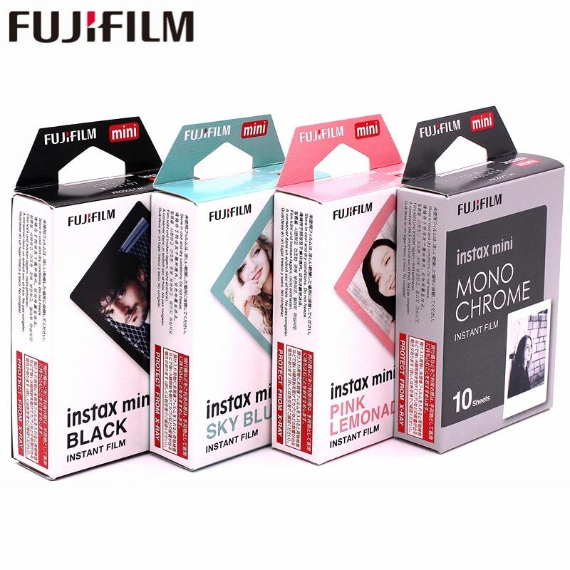 Fujifilm Instax Mini8 Film Monochrome Mono + Cadre Noir + Ciel Bleu + Rose Fram Film Pour Mini 7 8 9 25 70 90 Film Caméra SP-1 2