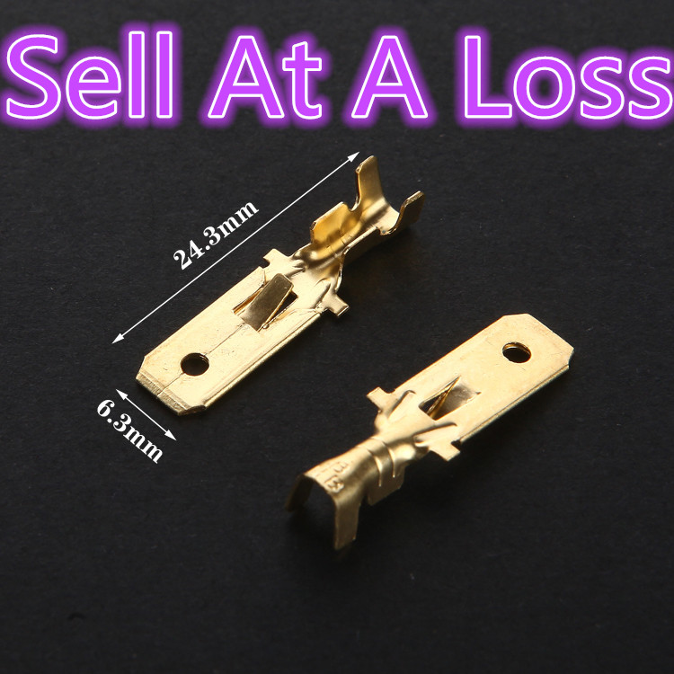 20pcs 6.3mm Copper L15 Male Wire Splice Crimp Terminal Spade Connector Sell At A Loss USA Belarus Ukraine 10pcs g45 usb b type female socket connector for printer data interface high quality sell at a loss usa belarus ukraine