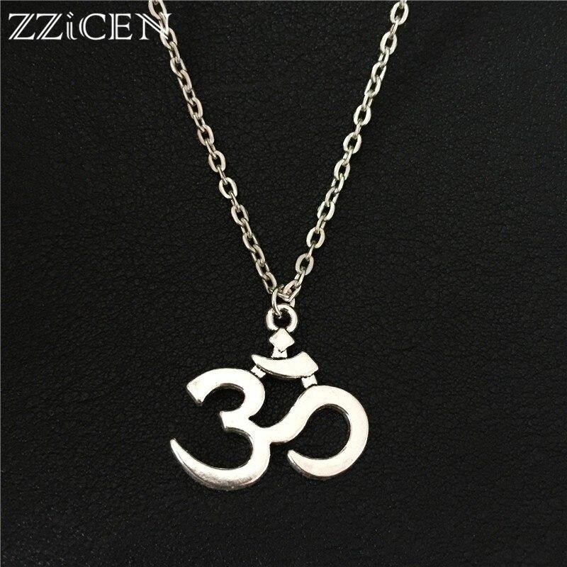 Новый Популярный уникальный винтажный индуизм, йога АУМ подвеска ом ожерелье для женщин мужчин подарки художественные 3D Ом Йога ювелирные ...