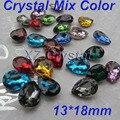 Bs05 13 x 18 mm 10 unids/lote Teardrop Pointback Rhinestones de los cristales Fancy Stones Chaton diferentes colores para elegir la joyería DIY