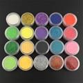 Best Selling 1 Pc Nail Art Glitter Powder 0.3mm Decoration Fine Dust UV Gel Shining Crafts in 20 Colors powder tips Pots