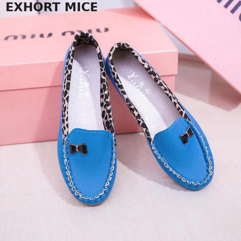 2019 New Casual Spring And Autumn Leisure Shoes Single Women Leather Shoes With My Mother Shoes Pregnant Women Shoes