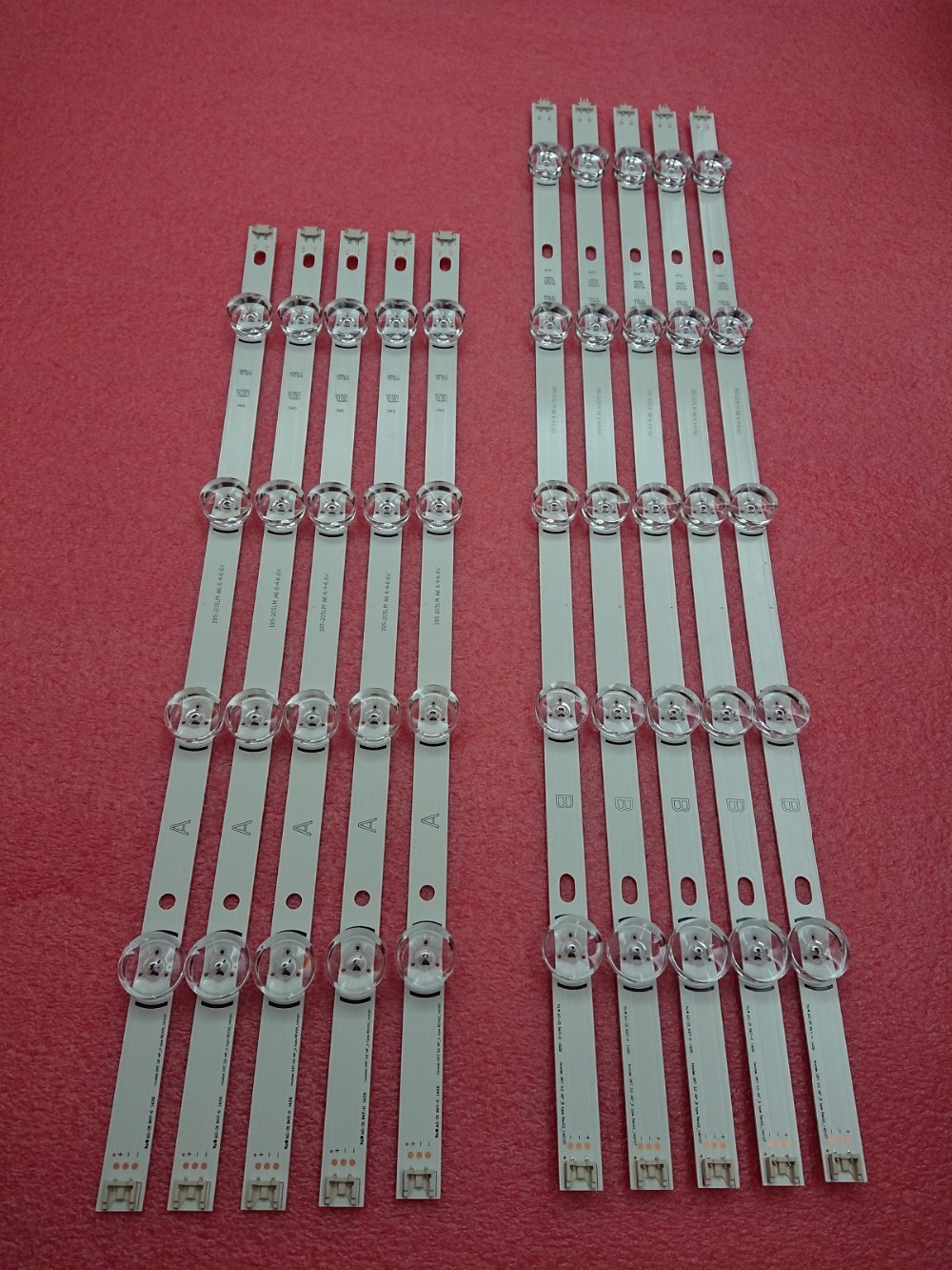 New 5set=50 PCS LED Backlgith Strip Replacement For LG 49LB5500 LC490DUE Innotek DRT 3.0 49 A B 6916L-1788A 1789A 1944A 1945A