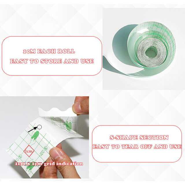 1-Roll 10m 5-20cm Waterproof Tape Tear-resistant Clear Wound Dressing Fixing Sticker Outdoor Sports Treatment First Aid Kit