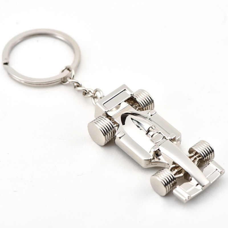 2018 Moda 1 Formula Racing Car Styling Car keychain chaveiro anel chaveiro Para VW Golf Renault Klod Skoda Octavia