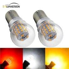 Bombilla LED blanca y roja para freno de coche, 2x4W, 1157 BAY15D P21/5W BAZ15D P21/4W BA15D 1142 39SMD 3014, 12 24V