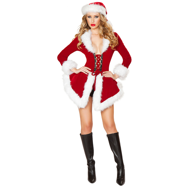 Gorgeous New 2016 Velvet Sexy Christmas Lady Santa Costume Woman Adult Xmas Cosplay Costume Fancy Dress  sc 1 st  AliExpress.com & Gorgeous New 2016 Velvet Sexy Christmas Lady Santa Costume Woman ...