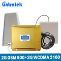 Lintratek GSM 900 3G Signal Booster 2G 3G GSM 900Mhz WCDMA UMTS 2100MHz Mobile Signal Repeater Cellular Amplifier Dual Band @6.4