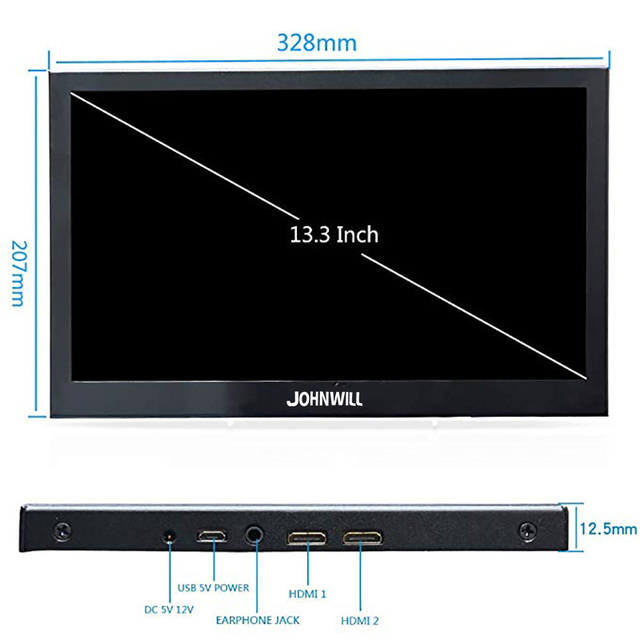 13.3 inch 2560x1440 Portable Monitor pc for PS4 Windows 7 8 10 Full HD LCD 4