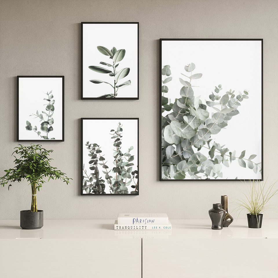 Eucalyptus Posters Botanical Canvas Painting Farmhouse Wall Decor Minimalist Art Pictures Bedroom Decoration Scandinavian Decor image