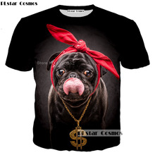 PLstar Cosmos funny animal t shirt PUG dog T-shirts fashion 3d print Women Men shirts size S-5XL Drop shipping