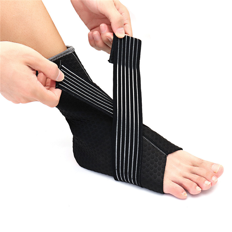Hot Sale Neoprene Ankle Support Compression Strap Achilles Tendon Brace Sprain PT Sports Safety Ankle Support ...