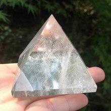 Белый кристально чистый кварц рок Выгравированный 30 мм пирамида ТОЧКА столб резной камень чакра камни лечебные Рейки