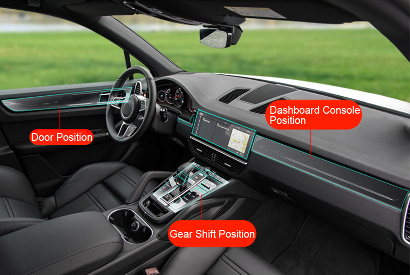 Left Hand Drive For Porsche Cayenne 3rd Gen PO536 2018 2019 Interior Accessories Protector Cover Protective