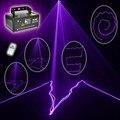 Бесплатная доставка MINI PRO ИК Пульт Дистанционного Управления 8 CH DMX 150 МВт Фиолетовый цветной Лазерный Сканер DJ Party Bar Проектор Освещение Сцены V150