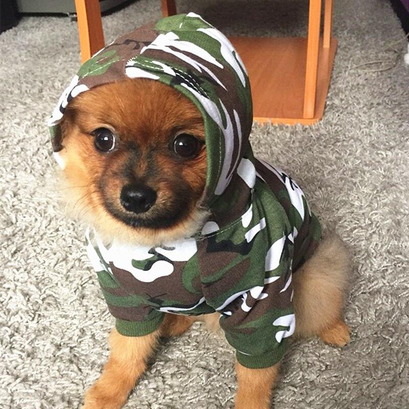 Камуфляжная одежда для собак, летняя одежда для домашних животных, рубашки для маленьких собак, одежда для щенков, одежда для французских бу...