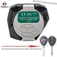 KEYECU Substituição Original Placa de Controle Remoto-3 Botões 433MHz B42TA-FOB para Toyota Hilux/4 Runner 2005-2008/2003-2009.