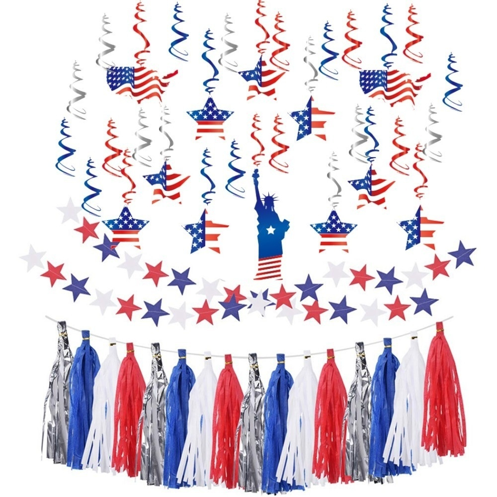 Red Blue White 4th Of July Decorations Fourth Of July Party Supplies American Independence Day Party Decorations Party Backdrop in Party DIY Decorations from Home Garden