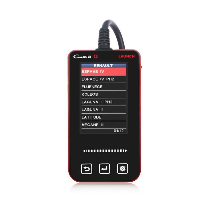 Ferramenta de diagnóstico do scanner automotivo Bateria ABS ESP Óleo Leve Airbag SRS redefinir launch creader vii creader 7 obdii 5 carros livres de