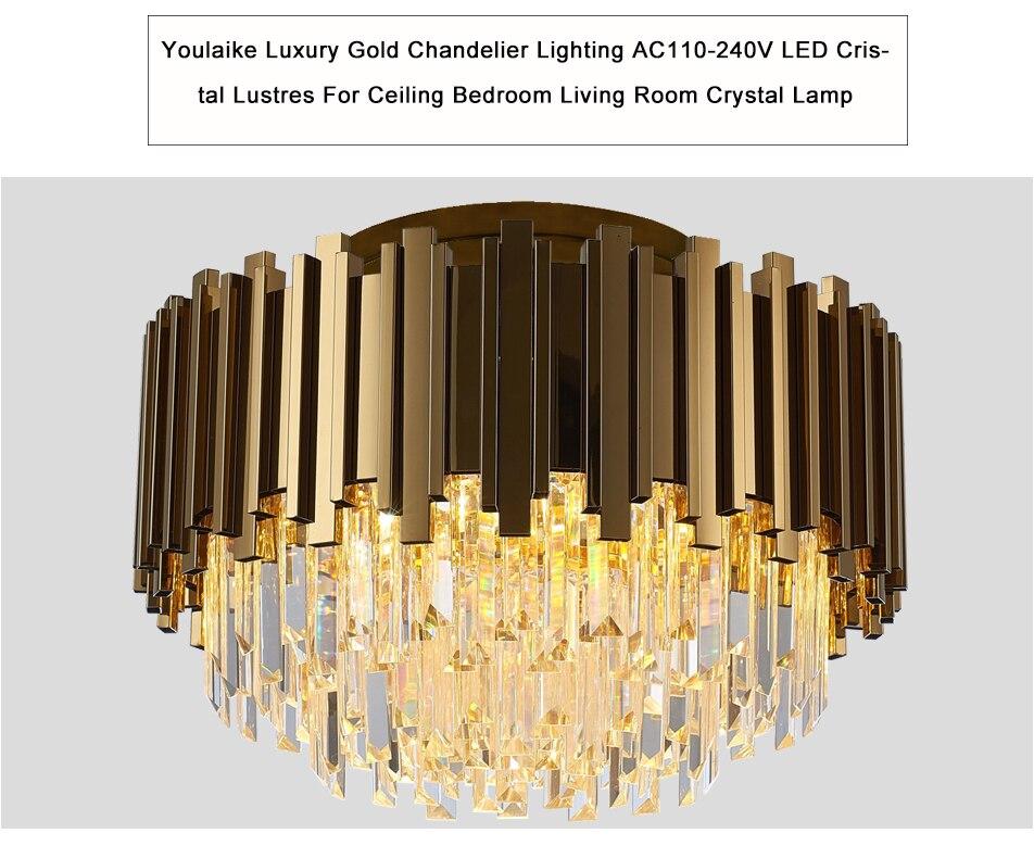 Led Glühbirnen Für Kronleuchter ~ Großhandel youlaike luxus gold kronleuchter beleuchtung ac v