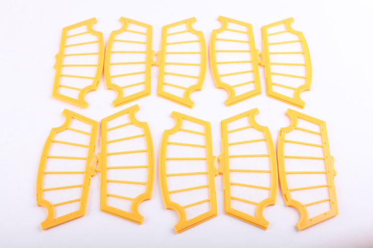 ФОТО (For A335, A338, A320) HEPA Filter for Robot Vacuum Cleaner, 10pcs/ pack, Home Appliance Parts