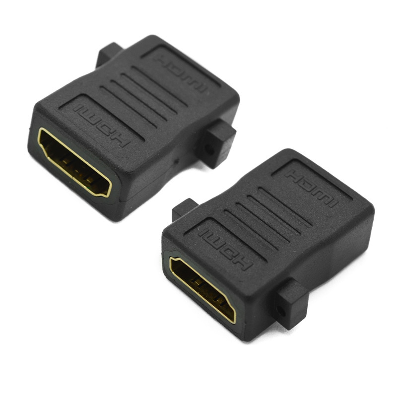 200pcs/lot 180 Degree HDMI to HDMI Female to Female converter cable extender Adapter for HDTV PS2 LCD free shipping