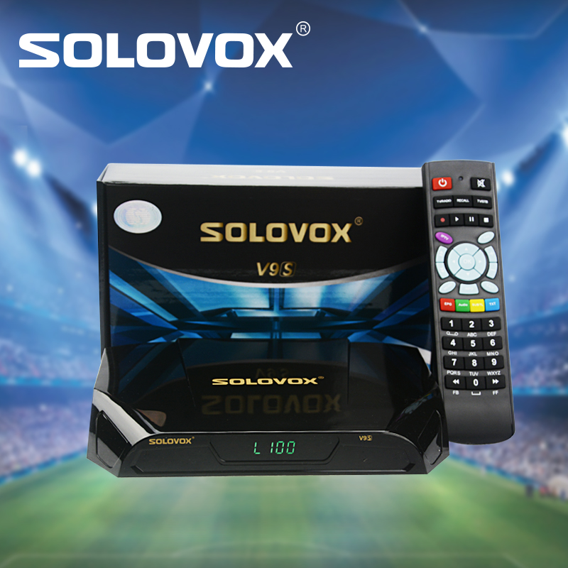 SOLOVOX V9S 10pcs Support HDMI and AV Satellite Receiver Home Cinema SmartTV Box Build in WIFI Support WHEEL CCCAMD LIVE solovox v6s satellite receiver home cinema hdmi av smart tv box free cccamd live free hot xxx channel stalker xtream