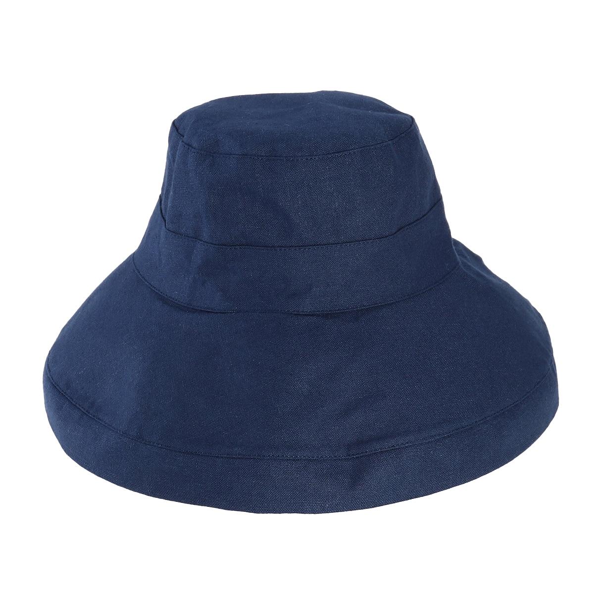 ef32e23610c78 1   Women   `s Sun Sun Protection UV Protección plegable Sombrero de cubo  de algodón de ala ancha (Dark Navy)
