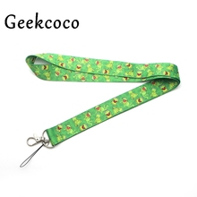 Kermit the frog Funny keychain Accessories Safety Breakaway Mobile Phone ID Badge Holder keys Strap Neck lanyard Camera J0282