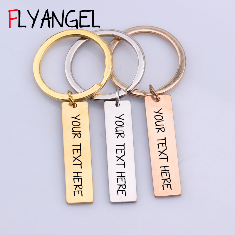 Customized Personal 1pcs Engraved Keychain Text Letter Key Chains DIY Gift  for Women Men Family Friends Couples Keyring Jewelry d197849e44