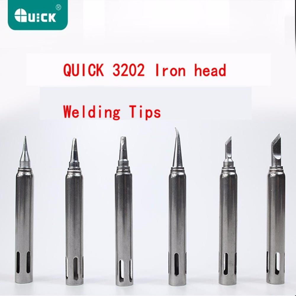 3202 г-к, железная головка, используется для паяльной станции QUICK, сварочные наконечники