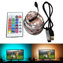 TV LED strip licht USB 3528 SMD DC 5 V/6 V Kabel Power Kroonluchter Night Lamp Desktop PC scherm Backlight RGB 0.5/1/2/3/4/5M(China)