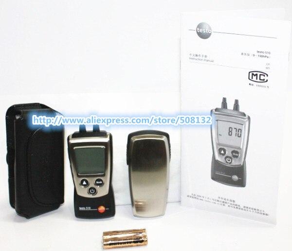 Testo 510 Autoranging Differential Manometer Air Pressure Meter Gauge 0 100hPa 0563 0510 0560 0510