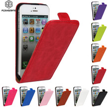 Luxury Retro Crazy Horse Top PU Leather Case Cover Magnetic Buckle Vertical flip Cover For iPhone 4 4s 5 5C SE 5s 6 6s 7 Plus