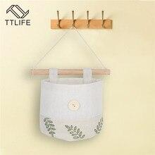 Cotton Linen Storage Hanging Bag Wall Cloth Dormitory Door Useful Practical Deco