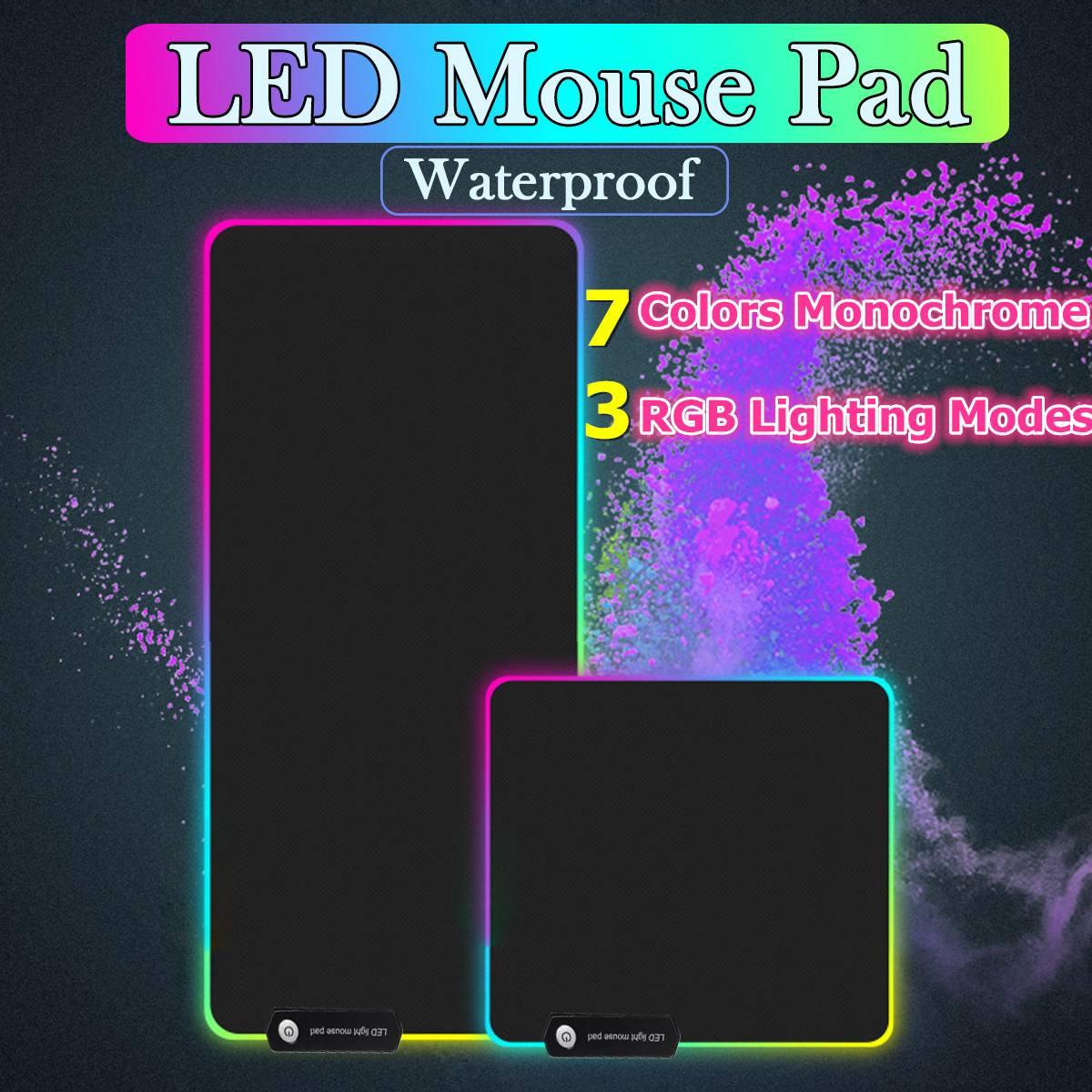 Large RGB LED Gaming Mouse Pad Gamer Mousepad LED Light Illuminated USB Wired Colorful Luminous Non-Slip Mouse Mice