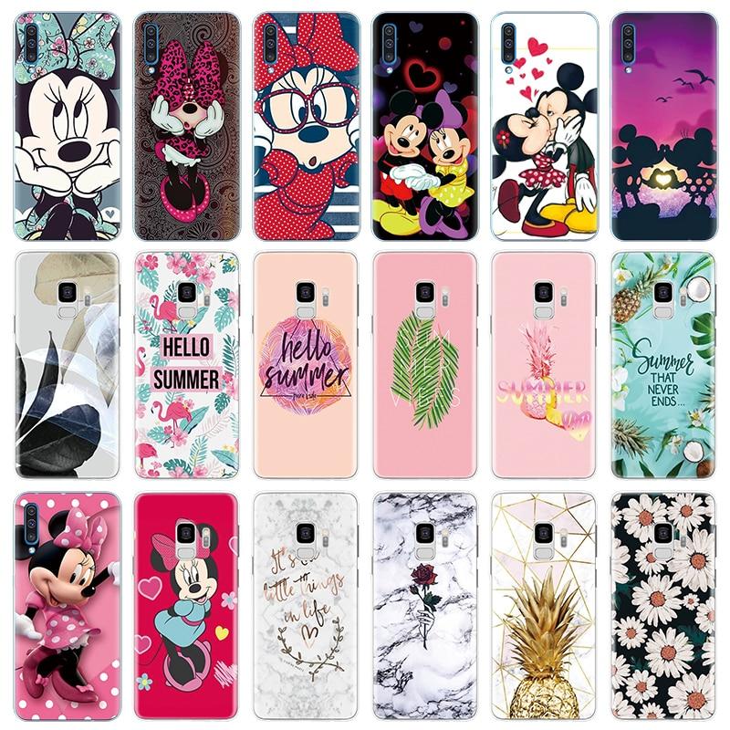 Lovely Cartoon Marble Flower Soft TPU Cover Case For Samsung Galaxy A70 A60 A50 A40 A30 A20e A10 Roque Coque Funda Carcasa Case
